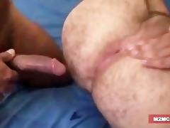 unshaved dad team-fucked