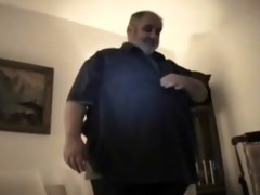 plump bear daddy - strokes his chunky jock