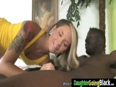 darksome penis and a petite honey 10