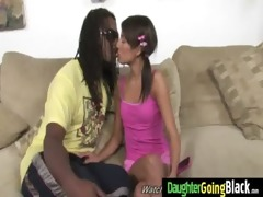 youthful daughter receives pounded by large dark