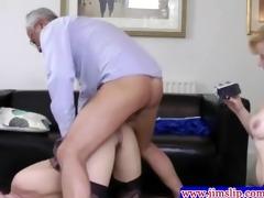 british women threeway enjoyment with old chap
