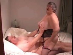 big beautiful woman rides oldman 0