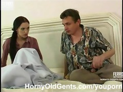 youthful beauty drilled by aged fellow