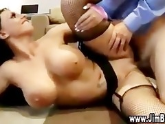 see large love muffins bounce on sexy brunette