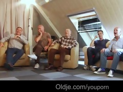 six oldmen gangbang juvenile golden-haired