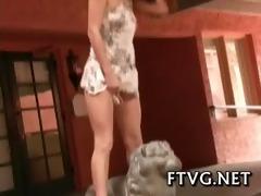 sex tool fondles pussy
