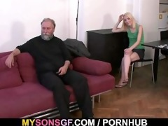 daddy punishes his gf and acquires caught by son