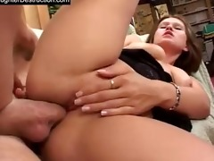 youthful daughter raw drilled in backseat