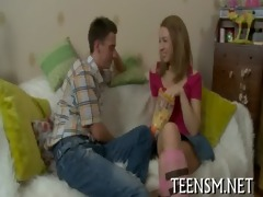 round arse legal age teenager is nailed rough