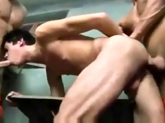 sexy smooth hung hunk prisoners facefuck then