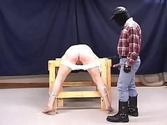 horny pig dad torturing lustful g