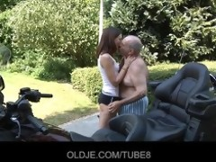 youthful russian gal rides actually old chap