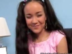 cute oriental daughter screwed by dark boy