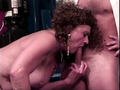 old doxy receives her bawdy cleft licked by