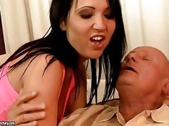 sexually excited grandad enjoys sex with hawt
